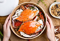 紫菜糯米蒸蟹的做法