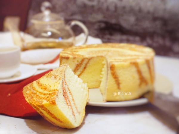 粉红斑马戚风蛋糕(表面+侧面+内部均有斑马纹)的做法