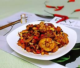 干锅牛蛙(家常少油版)的做法