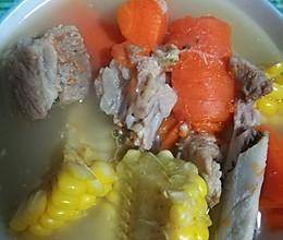 排骨汤。的做法