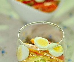 蔬菜芥末籽鹌鹑蛋的做法