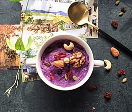 紫薯坚果奶昔的做法