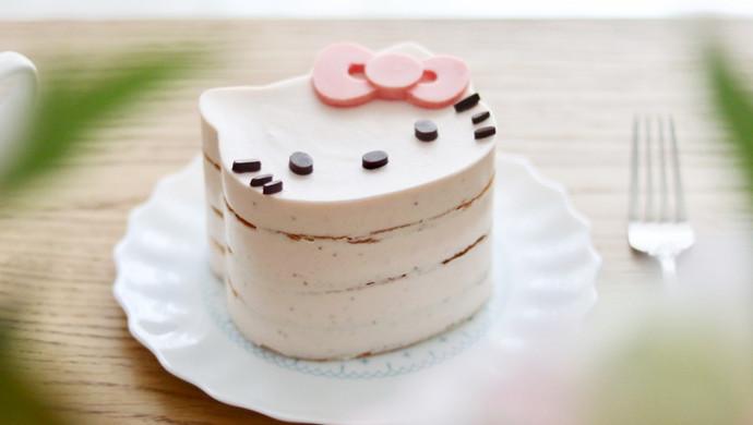 Kitty草莓慕斯蛋糕
