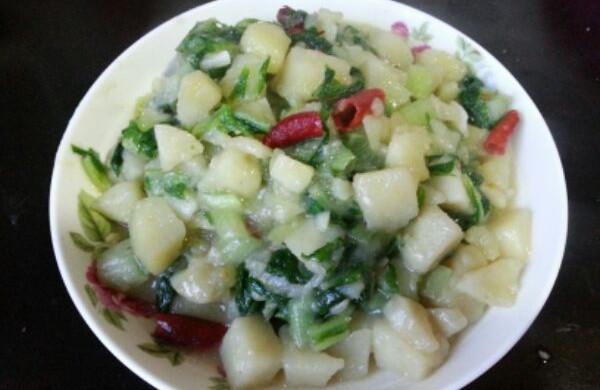 小白菜熬土豆