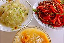 双椒肉丝、素炒冬瓜片的做法