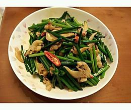 韭菜花炒蛤蜊肉的做法