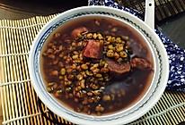 紫薯绿豆甜汤的做法
