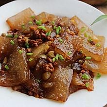 #一人一道拿手菜# 一把番薯粉,赛过红烧肉——肉末番薯粉皮