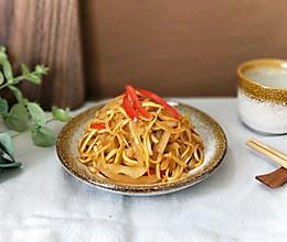 沙茶酱香炒三丝(降血压神菜)的做法