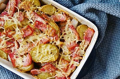 芝士培根烤小土豆