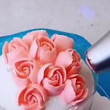 甜美可爱的黄油戚风裱花蛋糕 捧花 花束蛋糕 百年献礼