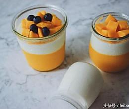 芒果双色布丁的做法