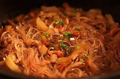 节瓜粉丝煲:一个小技巧,粉丝鲜美更入味!
