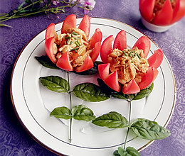 莲花番茄的做法