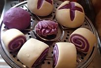 紫薯开花馒头、花卷的做法