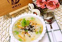 虾蓉白米粥的做法