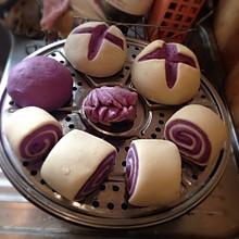 紫薯开花馒头、花卷