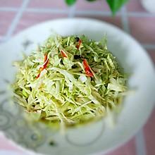 椒油炝拌茴子白。#换着花样吃早餐#