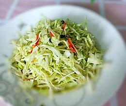 椒油炝拌茴子白。#换着花样吃早餐#的做法