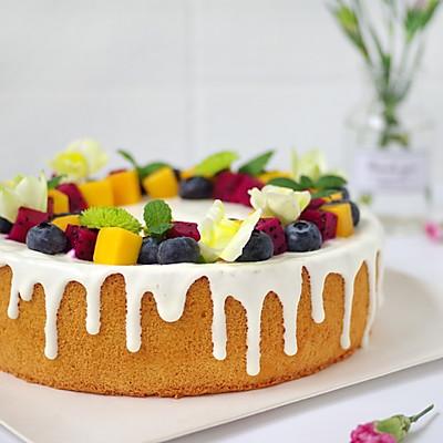 火龙果戚风淋面蛋糕