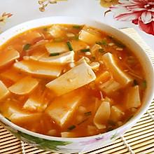 茄汁金针菇虾仁豆腐汤