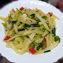 肥肉炒棒菜