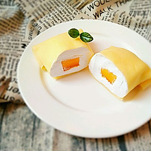 芒果班戟(无黄油低卡版)#蔚爱边吃边旅行#