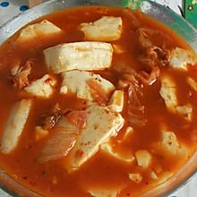 减肥餐  辣白菜豆腐汤