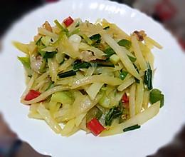 肥肉炒棒菜的做法