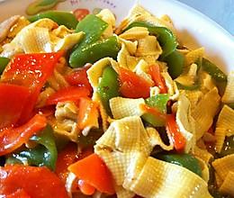 上汤尖椒干豆腐的做法
