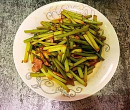 10分钟美食系列~蒜苔炒肉的做法