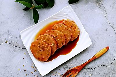 软糯香甜的桂花红枣糯米藕