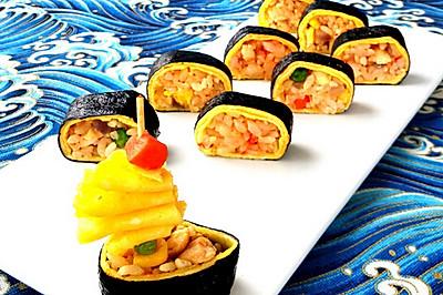 蛋包饭寿司卷#急速早餐#