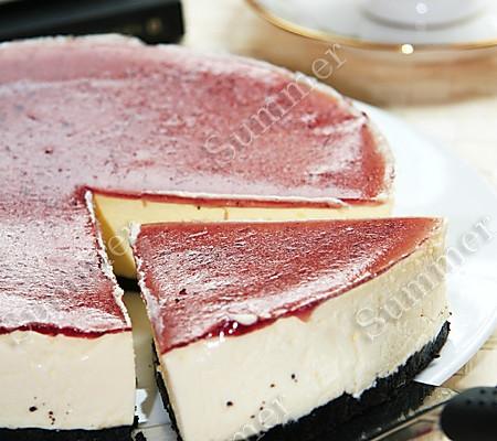 蓝莓芝士蛋糕(不用烤箱版)的做法