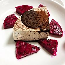 #美食视频挑战赛#不用烤箱不用打发蛋清的奥利奥慕斯蛋糕