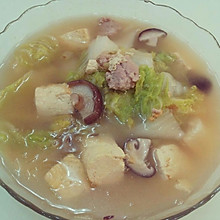 [家乐上菜,爱上家常味]白菜豆腐汤锅煲