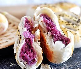 紫薯酥饼,不用醒面不用揉出膜的做法