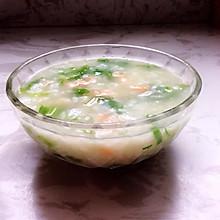 鲜虾蔬菜粥