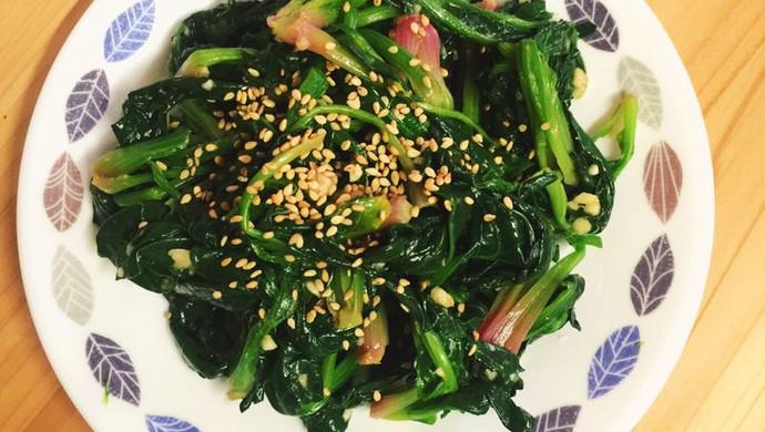 最正宗韩式拌菠菜