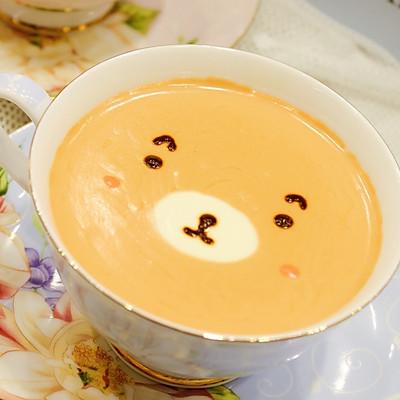 自制呆萌热带水果风奶盖茶