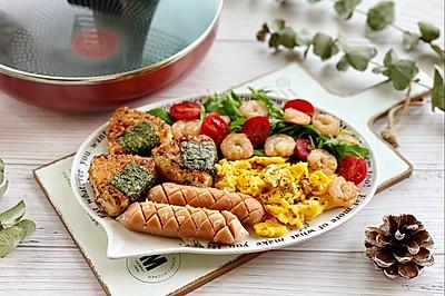 日式照烧饭团早餐盘,开始元气满满的一整天!