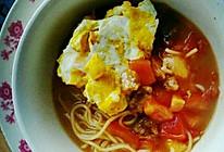 新手零失败-番茄肉片鸡蛋汤面的做法