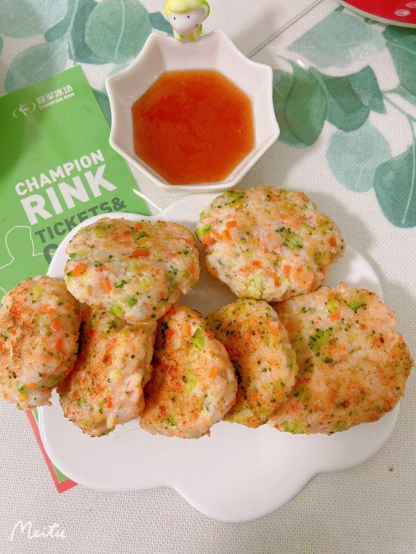 虾仁蔬菜饼,健康又美味