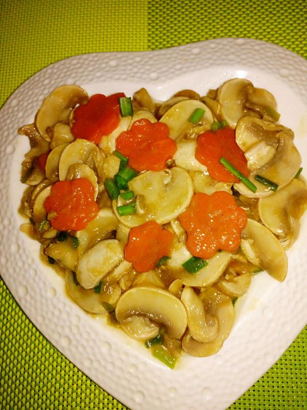 清炒白蘑菇的做法