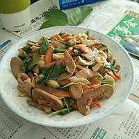 胡萝卜蒜苗炒猪腰粉肠#厨此之外,锦享美味#