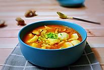 泡菜菌菇面疙瘩汤(家乡版)的做法
