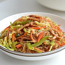 肉丝圆白菜炖粉条
