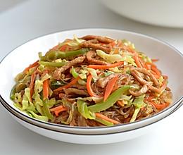 肉丝圆白菜炖粉条的做法