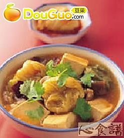 高丽菜结炖豆腐的做法