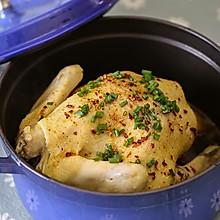 铸铁锅无水葱油鸡